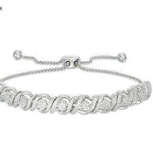 Sterling Silver 1/2 CT. T.W. Diamond Bolo Bracelet